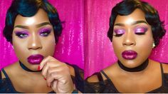 How To Slay On Valentine's Day Makeup| Pink, Purple & Glitter - YouTube
