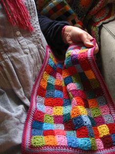 Little Squares Doll Blanket   from Lucy at attic24