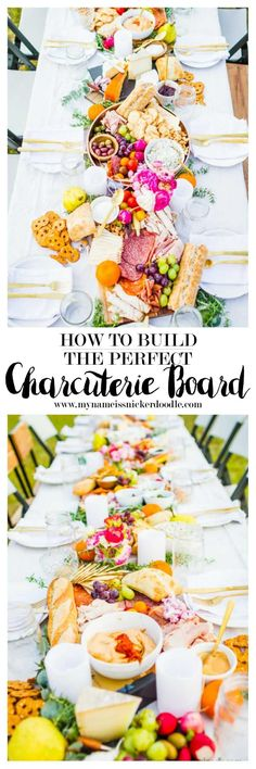 How to build the perfect Charcuterie Board for any party or wedding!  So beautiful!     mynameissnickerdoodle.com