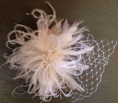 Holly... Bridal Feather Fascinator Hair by BridalFascinators, $30.00
