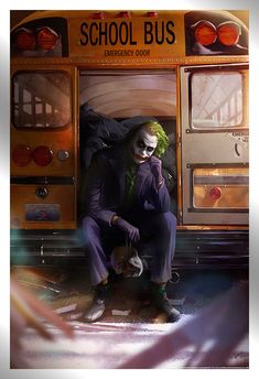 'Joker' & 'Harley Quinn' prints by Ann Bembi through Bottleneck Gallery Joker Comic, Joker Art, Joker Batman, Batman Art, Comic Art, Joker Images, Joker Pics, Batman Comic Wallpaper, Heath Ledger Joker Wallpaper