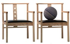 Modern wood chairs | a set of contemporary chairs for an unique decor |www.bocadolobo.com/ #modernchairs #luxuryfurniture #chairsideas