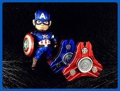 Fidget Spinner Metal Prime Woocon Galaxy Tri Hand Spinner Fidget Toy Exclusive Bearing Smooth and Quiet Spin,Perfect For ADHD, Anxiety,Autism,Boredom (BLUE RED CAPTAIN AMERICA) - Fidget spinner (*Amazon Partner-Link)