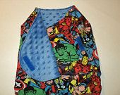 Baby Swaddle Wrap, Superhero Sleep Sack  Marvel Comics Baby Bundler, Swaddler, Minky And Cotton. Superhero Infant.