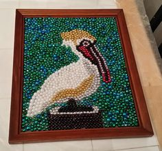bead-art-using-recycled-frames-and-mardi gras beads