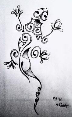 Lizard tattoo...