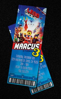 Hey, I found this really awesome Etsy listing at http://www.etsy.com/listing/171721882/lego-movie-ticket-style-invitation-the