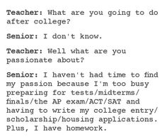 Seriously. My daughter is an 8th grade honors student. Taking college courses already, and the work load in hs will be double. WTF?