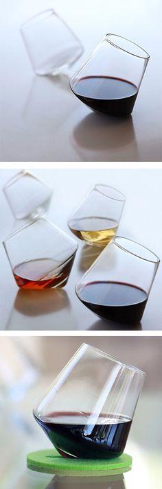 Amazing Cupa Wine Hand Blown Glasses $54.99