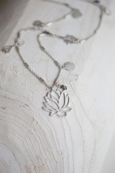 The Little Black Dress Boutique Limited. Tutti & Co Long Lotus Necklace - N255S
