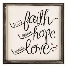 Have Faith Framed MDF Sign