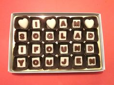 I Love Your Face Cubic Chocolate LettersWhite box This item is