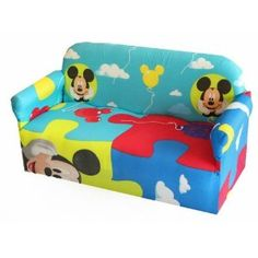 DISNEYS MICKEY MOUSE CLUBHOUSE CHILDRENS BRANDED CARTOON CHARACTER SOFA CHAIR BEDROOM PLAYROOM KIDS SEAT: Amazon.co.uk: Kitchen & Home