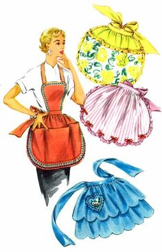 1950's Simplicity 4938 Womens Apron Pattern Hostess by patternshop, $37.99