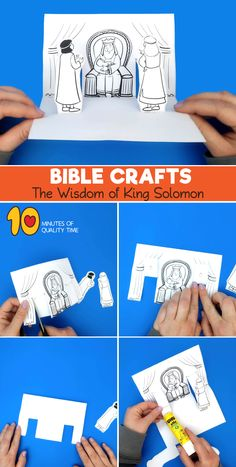 Bible Activities For Kids, Bible Stories For Kids, Bible Crafts For Kids, Bible Story Crafts, Bible School Crafts, Sunday School Crafts, Solomon Bible, King Solomon, Scriptures For Kids