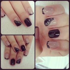 Renda - Instagram @marciaeng -Adesivos de unha  #nail #nails #nailart #unhas#
