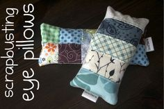Making Eye Pillows -- the technique could be easily extended to make many other cool relaxation aids as well.