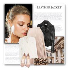 Dreaming of Black Leather Jacket! by bliznec on Polyvore featuring polyvore fashion style Michael Kors Balenciaga Topshop Semilla Diane Von Furstenberg Roberto Cavalli clothing