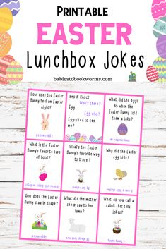 Provide kids with some laughter at lunch with these printable Easter jokes for kids! Easter Activities For Kids, Holiday Activities, Learning Activities, Kids Crafts, Teaching Resources, Spring Jokes, Easter Jokes, Funny Jokes For Kids, Funny Memes