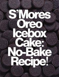 S'mores Oreo Icebox Cake: RECIPE