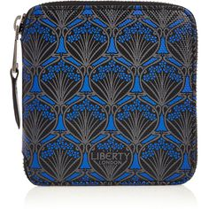 Black Liberty London Small Wallet ($265) ❤ liked on Polyvore featuring bags, wallets, zipper bag, leather zip wallet, leather zip around wallet, leather wallets and leather pocket wallet