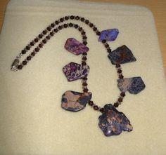 Purpleliscious/Genuine sea sediment jasper by CreationsbyMaryEllen, $23.98
