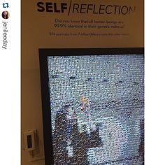 Take your own Self/Reflection selfie while visiting the exhibition at the in ・・・ from In honor of day, I present to you the ultimate selfie screen at So cool 📷 Interactive Installation, Human Connection, Reflection, Mosaic, Museum, Selfies, Day, Instagram Posts, Shots