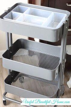 IKEA Organizer plastic basket insert to organize. Also love the cart also sold at IKEA Möbel IKEA Organizer plastic basket insert to organize. Also love the cart also sold at IKEA Ikea Organization, Ikea Storage, Craft Room Storage, Organizing, Ikea Raskog Cart, Ikea Cart, Chariot Ikea, Art Cart, Ideas Para Organizar