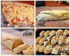 These pizza rolls were so easy and great! Each can of dough made about 12 rolls.