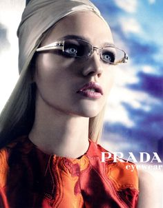Sasha Pivovarova for Prada Eyewear Spring 2007 Campaign | See more fashion at styleisviral.com
