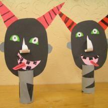 čerti Art For Kids, Crafts For Kids, Saint Nicholas, Techno, Halloween, Winter, Christmas, Monsters, Party