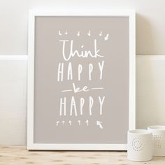 Think happy print - typography print | Old English Company