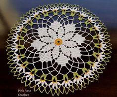 Centrinhos – Crochet Doily »Daisy Crochet Doilie pinkrosecrochet.wordpress.c...