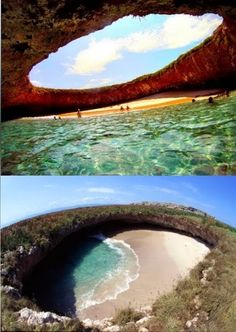 This hidden beach of Marieta Islands, Puerto Vallarta is located just a few miles off the coast of Mexico! I want to go back SOOO badly.