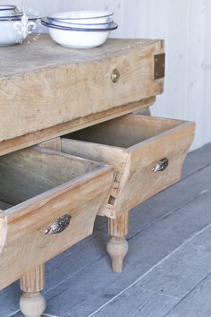 Eloquence, Inc. French Country Farmhouse, Modern Country, Farmhouse Chic, Rustic Shabby Chic, Shabby Chic Cottage, Country Furniture, Vintage Furniture, Butcher Block Tables, Butcher Blocks