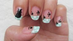 Kitten and Paws Nail Art