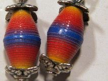 Ohrringe gelb-rot-blau