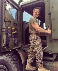 Untitled — hardnightjune1983: militaryanduniforms: Cory... Hot Army Men, Sexy Military Men, Army Guys, Hot Men Bodies, Gorgeous Black Men, Us Marine Corps, Man Character, Men In Uniform, Thin Blue Lines