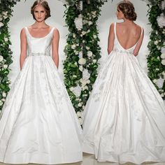 """Effortless Elegance! Style """"Wyndham"""" scoop neck ball gown of silk Duchese jacquard with low V-back and full pleated skirt from Anne Barge Fall 2016 Wedding Collection! @annebargebride #annebarge #annebargebride #newcollection #wyndham #ballgown #duchese #satin #jacquard #scoopneck #vback #openback #wedding #weddinggown #weddingdress #weddinginspiration #bride #bridetobe #bridal #bridalgown #bridaldress #bridaldesigner #bridalfashion #bridaltrends #bridalstore #belleandtulle #singapore by…"""