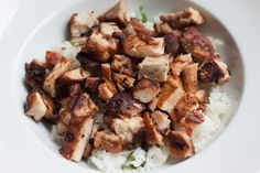 Chipotle's Chicken  2 1/2 lbs boneless, skinless chicken thighs  2 cloves garlic  1/4 cup olive oil  1 tbsp ground chipotle powder  1/2 tsp dried oregano  2 tsp salt  1 tsp each black pepper and paprika  2 tsp white vinegar  1 tsp lime juice