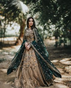 The Light From Through The Wild Greens. Pakistani Wedding Outfits, Pakistani Wedding Dresses, Pakistani Dress Design, Bridal Outfits, Shadi Dresses, Walima Dress, Dress Indian Style, Indian Dresses, Abaya Style