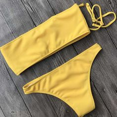young bikini strapless women's swim suits bandeau top bikini swimwear. Save an extra 10% off sitewide by code : worthtryit Plus Free Shipping $60+ Spring Sale