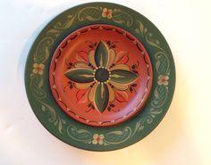 Norwegian Rosemaling Vintage Plate By Vesterheim Gold Metal Winner Nancy Morgan