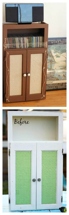 Learn how to make your own chalk finish paint and create something new for your house. This is what I did with an old cabinet, now it is a practical CD's organizer.