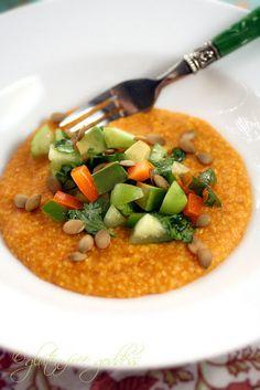 Pumpkin Polenta with Tomatillo Salsa - Vegan and Gluten Free!