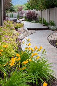 Custom paving for Salt Lake City and Park City landscape designs. Custom paving estimates from Land Design by Armstrong at Landscape Pavers, City Landscape, Landscape Design, Patio, Backyard Pavers, Salt Lake City, Park City, Outdoor Lighting, Utah