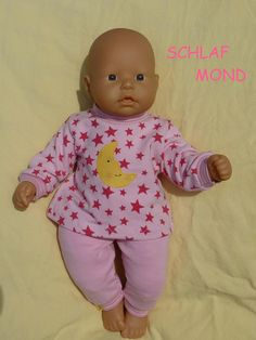 Babypuppen & Zubehör Puppenkleidung Strampler 1tlg Kleidung & Accessoires Anzug rosa für Puppen ca 20-25 cm