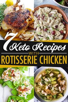Weeknight dinner in a flash! These 7 low-carb and keto recipes using rotisserie chicken is not only quick and easy, but great for beginners.
