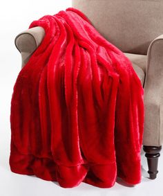 Another great find on #zulily! Chili Pepper Faux Fur Throw #zulilyfinds