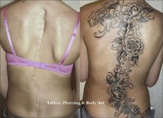 beautiful scar cover up tattoo
